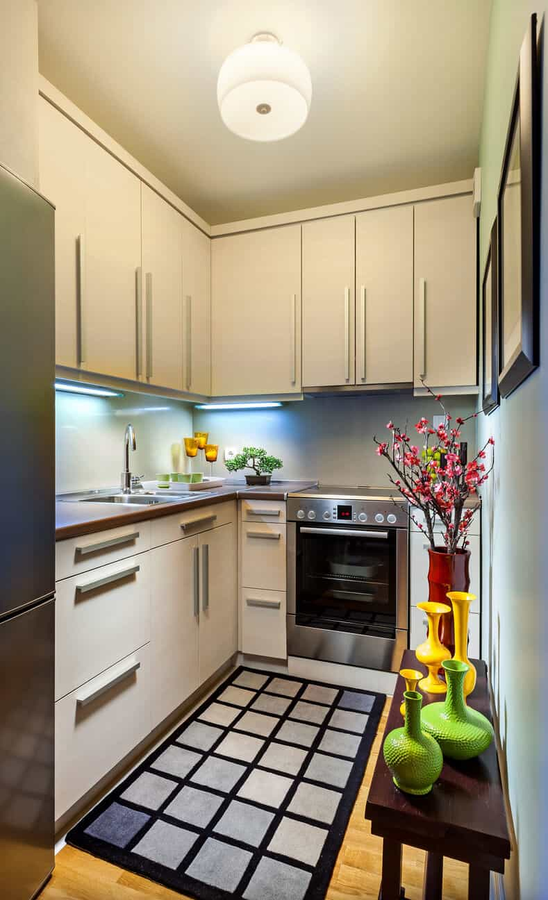 design a small kitchen with big style
